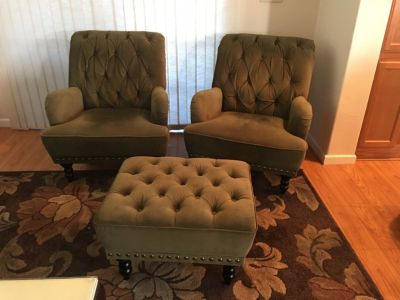 2 Chair's and matching ottoman