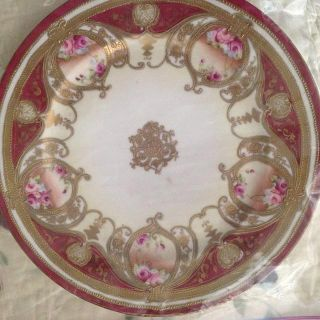 $650, Antique Hand  Painted  Plates
