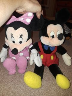 Micky and Minnie mouse stuff animals