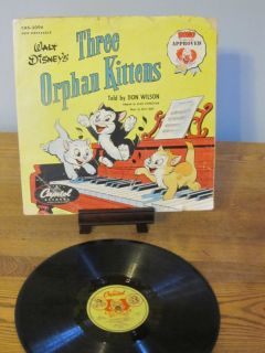 "Walt Disney's ""Three Orphan Kittens"""