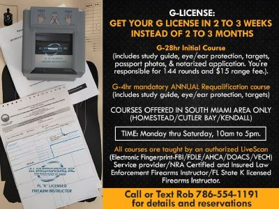 FL Armed Security Guard license in 2 to 3 weeks