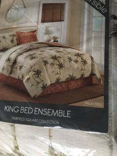 King bed ensemble Fairfield square collection 8 piece