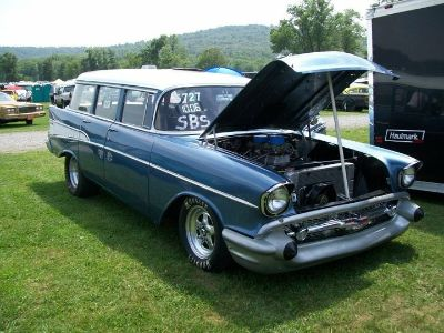 1957 four wagon complete with inclosed a/c trailer