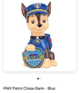 Paw Patrol Chase Money Bank. Excellent Condition.