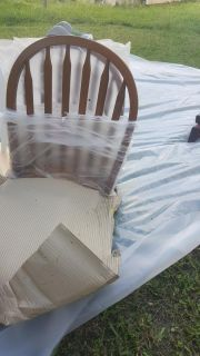Brown farm chairs for kitchen table