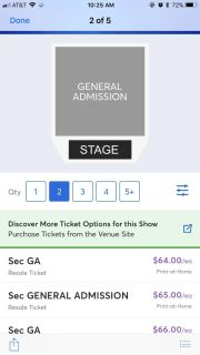 Two tickets for LANCO at the cannery room in the Gluch Friday dec 7 at 8