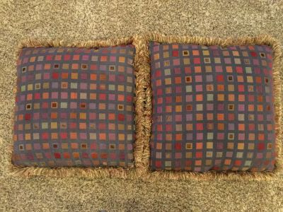 Two decorative pillows