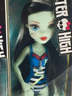 New Monster High Doll Frankie Stein Bathing Suit Swimsuit