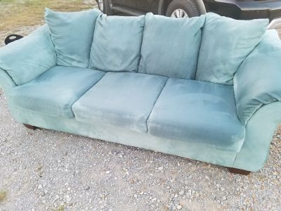Ashley / Powder Blue Sofa