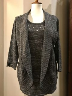 Evelyn Taylor cardigan and Top in one, size 1X
