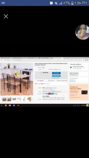 5 piece dining room set with 4 chairs
