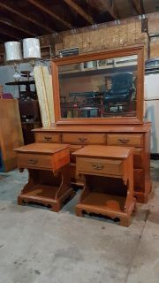 solid maple dresser and night tables