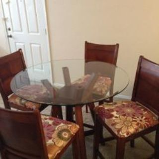 Table and 4 Custom Chairs