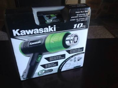 Kawasaki 10 Piece Heat Gun Set