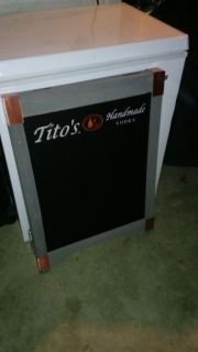 Double sided Titos chalkboard brand new
