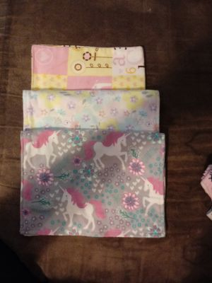 New...3 baby girls burp cloths