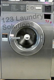 Coin Operated Huebsch Front Load Washer 208-240v Stainless Steel HC35MD2OU20001 Used