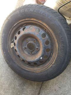 Spare tire rim