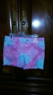 Girls Multi-Color Jean Shorts (5)