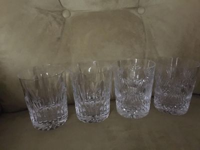 WATERFORD Double Old Fashioned Glasses SET OF 4