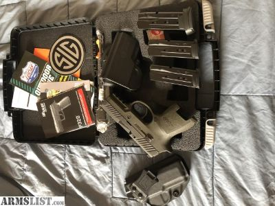 For Sale: Sig Sauer P320 Subcompact 9MM 12+1 with X-RAY DAY/NIGHT Sights OD Green (railed) Grip. TRIGGER UPGRADE COMPLETED!