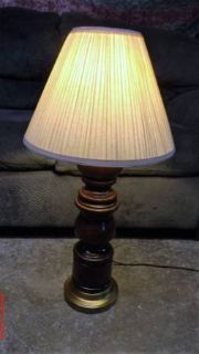 "Wood Table Lamp $10 ""The Back Forty"", Adel"