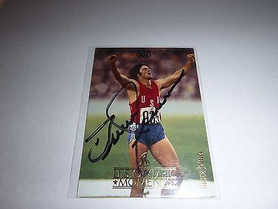 NEW signed upper deck trading card of bruce jenner - 76 decathlon olympic gold medal