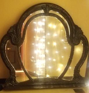 Burgandy decorative mirror