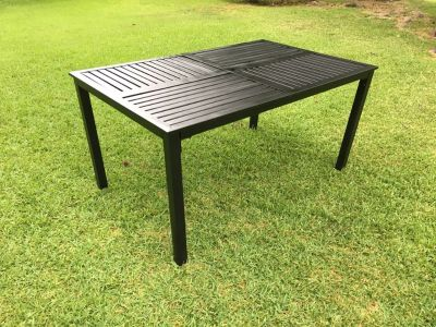 Black Aluminum patio table
