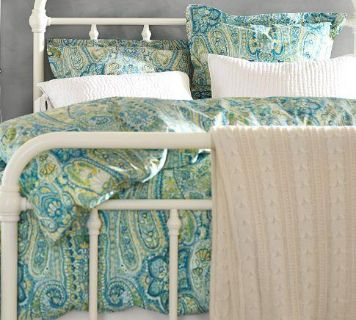 Pottery Barn Rosalie Paisley Queen Duvet Cover