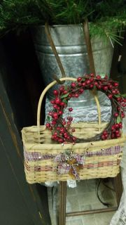 Basket and berry wreath