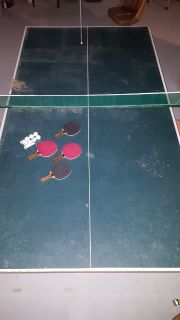 Super Brute 9' by 5' Full Size Ping Pong Table