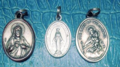 3 religious (rosary?) charms from Italy