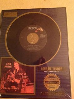 "Elvis Collector Edition "" Love Me Tender "" Framed 45"