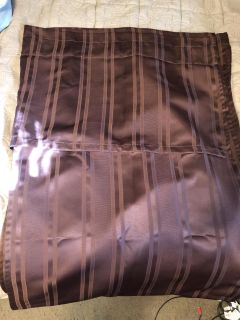 Brown curtains with attached valance 63 length