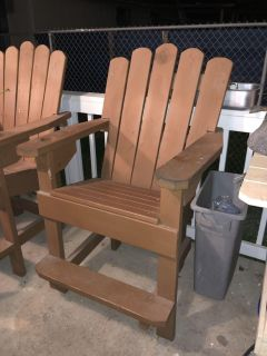 Tall Wooden Handmade Lounge Chair with cup holder