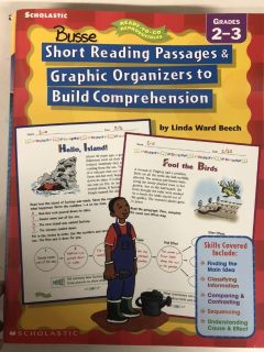 Reading comprehension stories with organizers