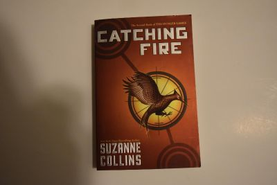 Catching fire! The hunger games book!