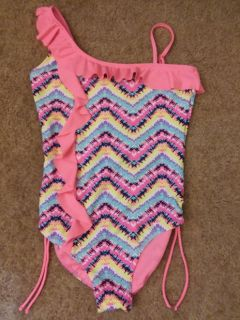 Girls justice one piece bathing suit