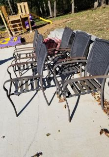 Patio chairs and cushions