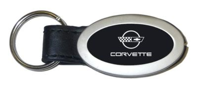 Find GM Corvette C4 Black Oval Leather Keychain / Key Fob Engraved in USA Genuine motorcycle in San Tan Valley, Arizona, US, for US $14.61