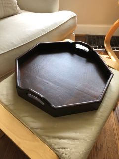 Wood serving tray - octagon