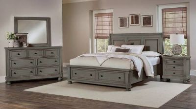 New Arrival - King Antique Pewter 5pc Bedroom
