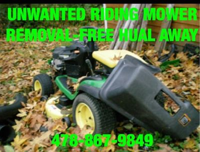 MOWER,ATV,MOTORCYCLE,TRACTOR REMOVAL