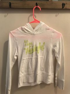 Girls Old Navy hooded T-shirt, size 10-12