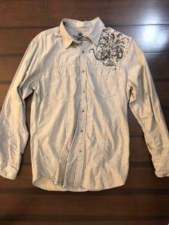 Guess Renegade dress shirt. Small. Grey.