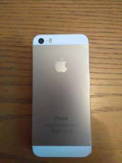 iPhone Gold 5S like new; unlocked; 2 chargers & 2 mophies