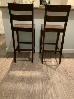 Two bar height stools