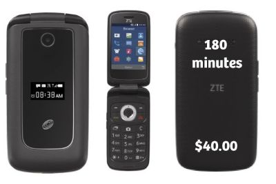 Brand New ZTE flip phone for sell with 180 minutes add air time