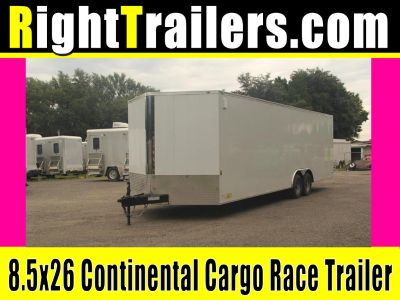 8.5x26 Continental Cargo | Enclosed Trailer